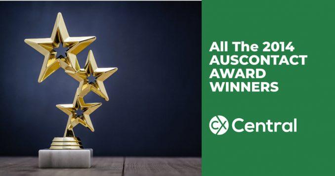 2014 Auscontact Award winners