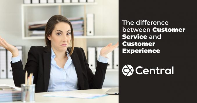 The difference between customer service and customer experience
