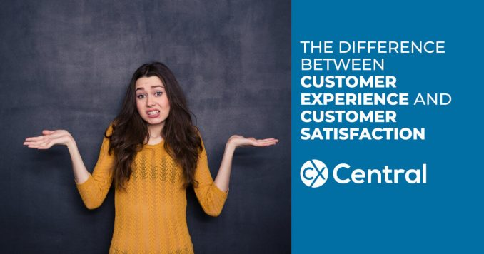 The difference between customer experience and customer satisfaction