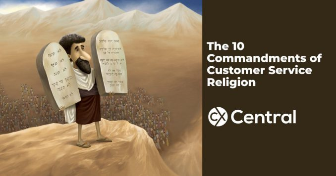 Commandments of a customer service religion