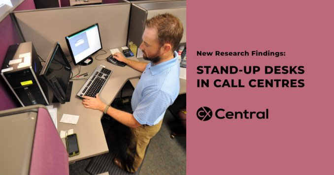 Research of using stand-up desks in call centres
