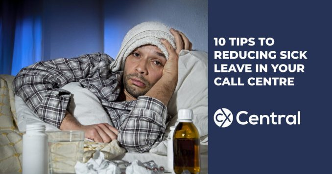 10 Tips for reducing sick leave in your call centre that actually work