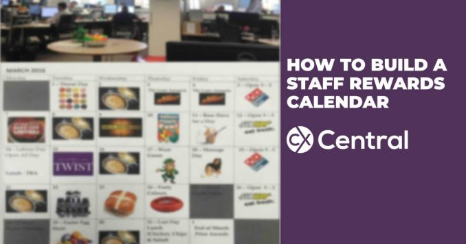 How to build a staff rewards calendar