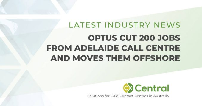 OPTUS call centre cuts jobs