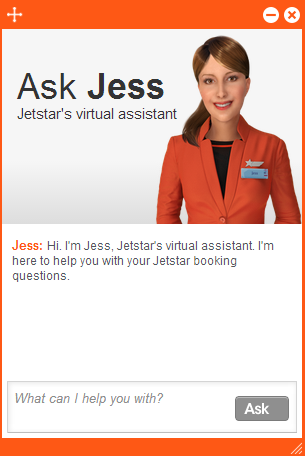 Ask Jess avatar as seen on Jetstar