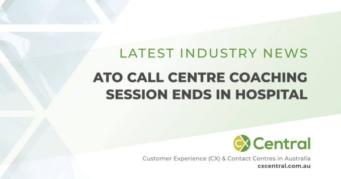 call centre coaching session ends in a hospital trip
