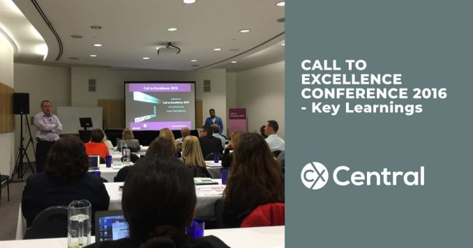 Call to Excellence Conference 2016 Key Learnings