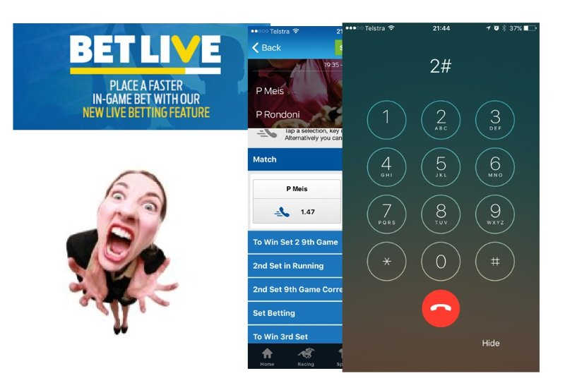 Bet live has made a big difference to the Sportsbet customer experience