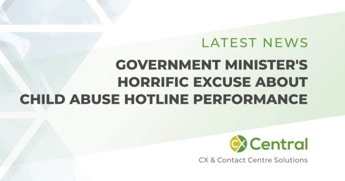 Government Ministers horrific excuse about call centre performance
