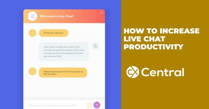How to increase live chat productivity in your contact centre 2019