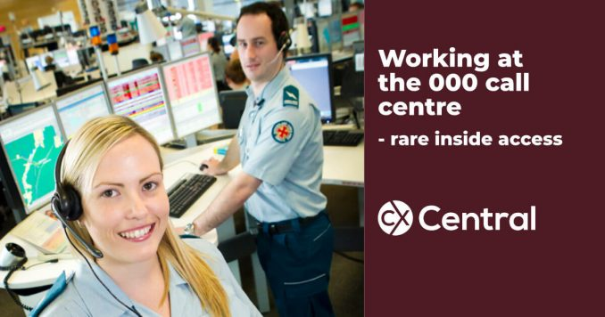 Working at the 000 call centre - rare inside access