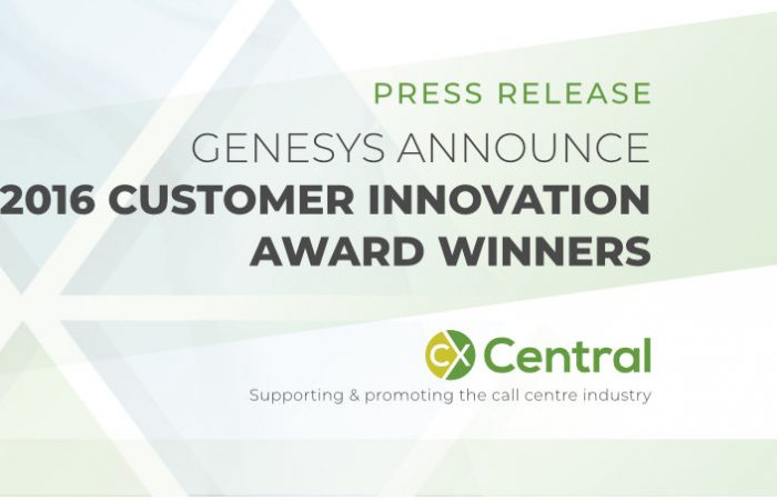 Genesys announce 2016 Customer Innovation Award winners