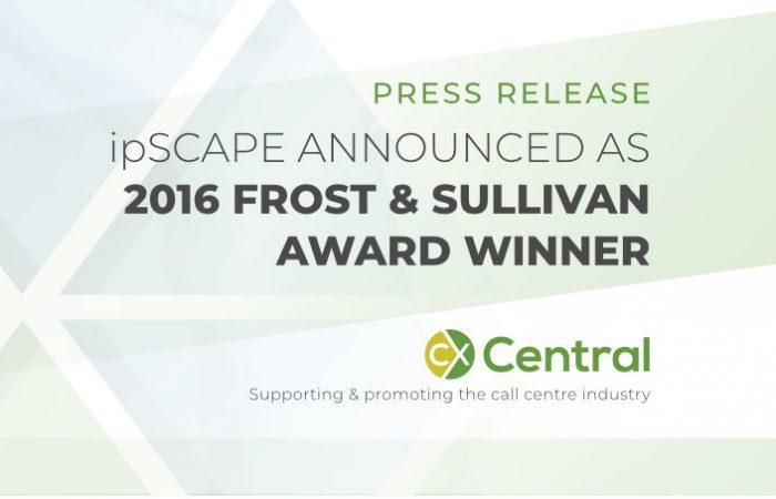 ipSCAPE wins 2016 Frost & Sullivan Award