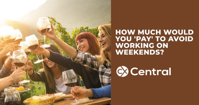 How much would you pay to avoid working on weekends?
