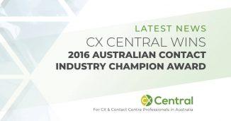 2016 Australian Contact Centre Industry Champion Award