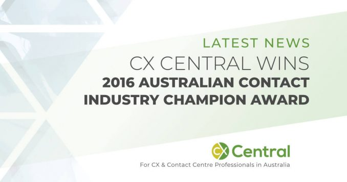 2016 Australian Contact Centre Industry Champion Award