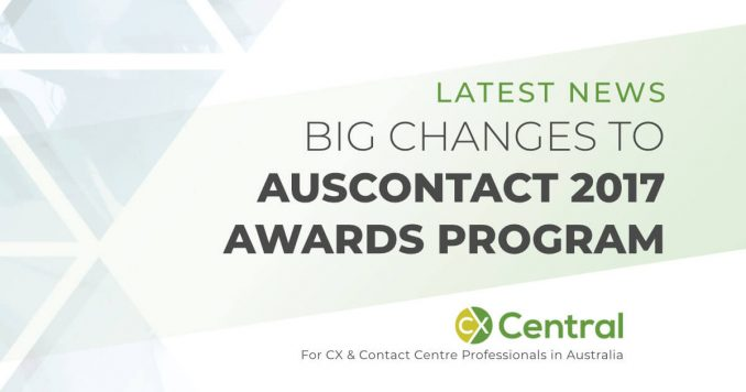 Big changes to 2017 Auscontact Awards program