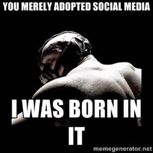 adopted social media meme