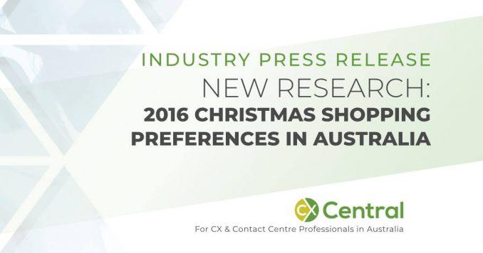 Australia's 2016 Christmasshopping preferences