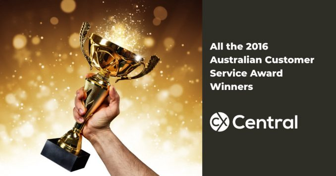 All the 2016 Australian Customer Service Award Winners