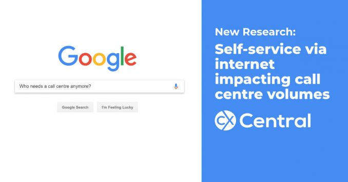 Searching the internet impacting call centre volumes