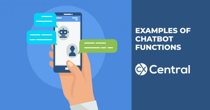 Examples of chatbot functions for customer service