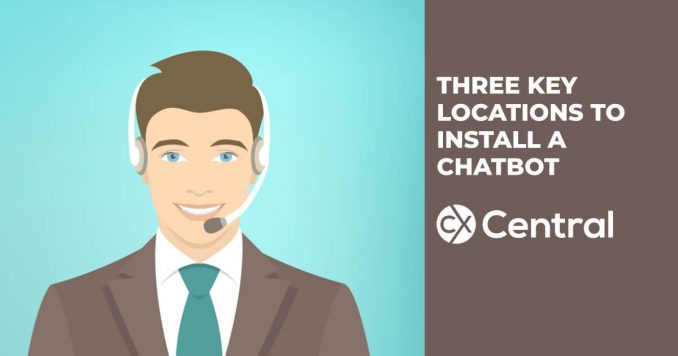 Key locations to install a chatbot