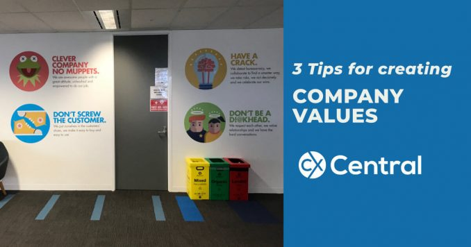 3 tips on creating company values