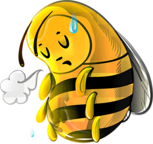 Tired bee