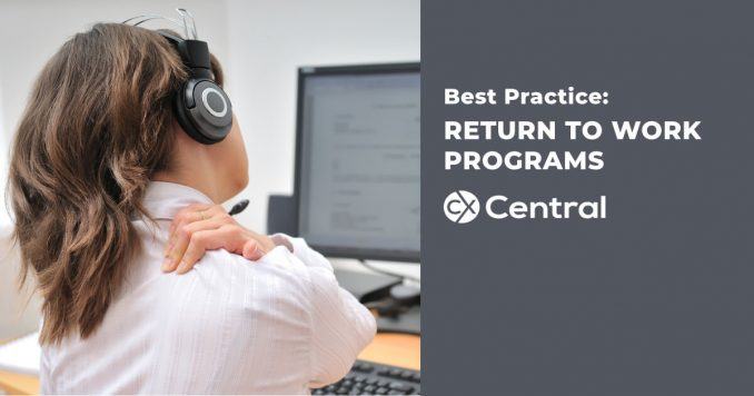 return to work programs for call centre workplace injuries