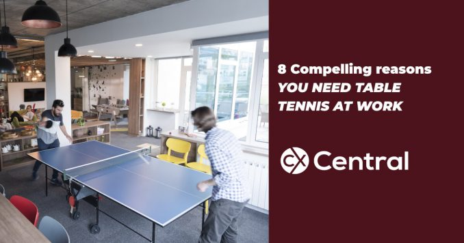 Why you need table tennis at work