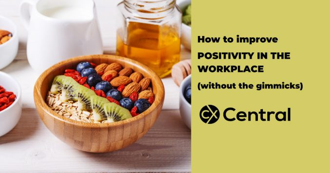 How to improve positivity in the workplace