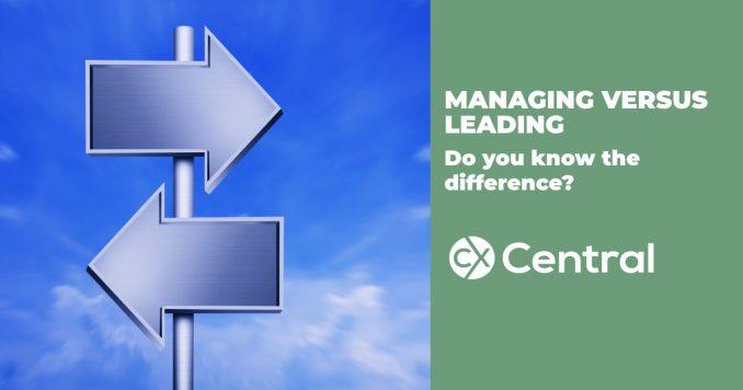 Leading versus Managing