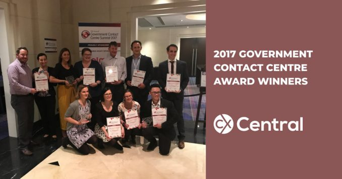 2017 Government Contact Centre Awards Winners