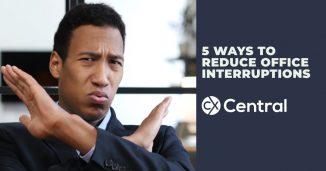 5 Ways to reduce office interruptions 2019