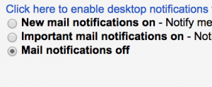 Turn off desktop notifications to reduce office interruptions