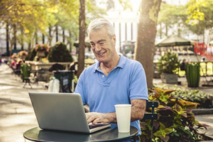 Why not work outside to reduce office interruptions