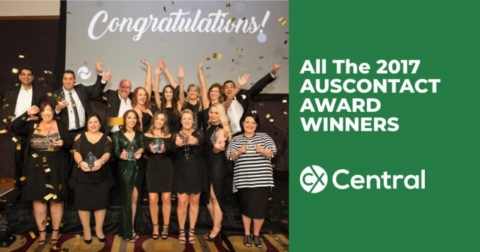All the 2017 Auscontact Award winners