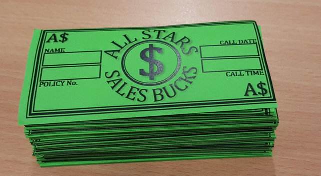 All Stars Sales Bucks