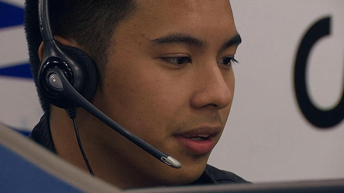 Dateline follows 20-year-old Alex Magno at work in the Australian section of this Manila call centre.
