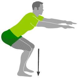Leg Squats as an exercise you can do at your call centre desk