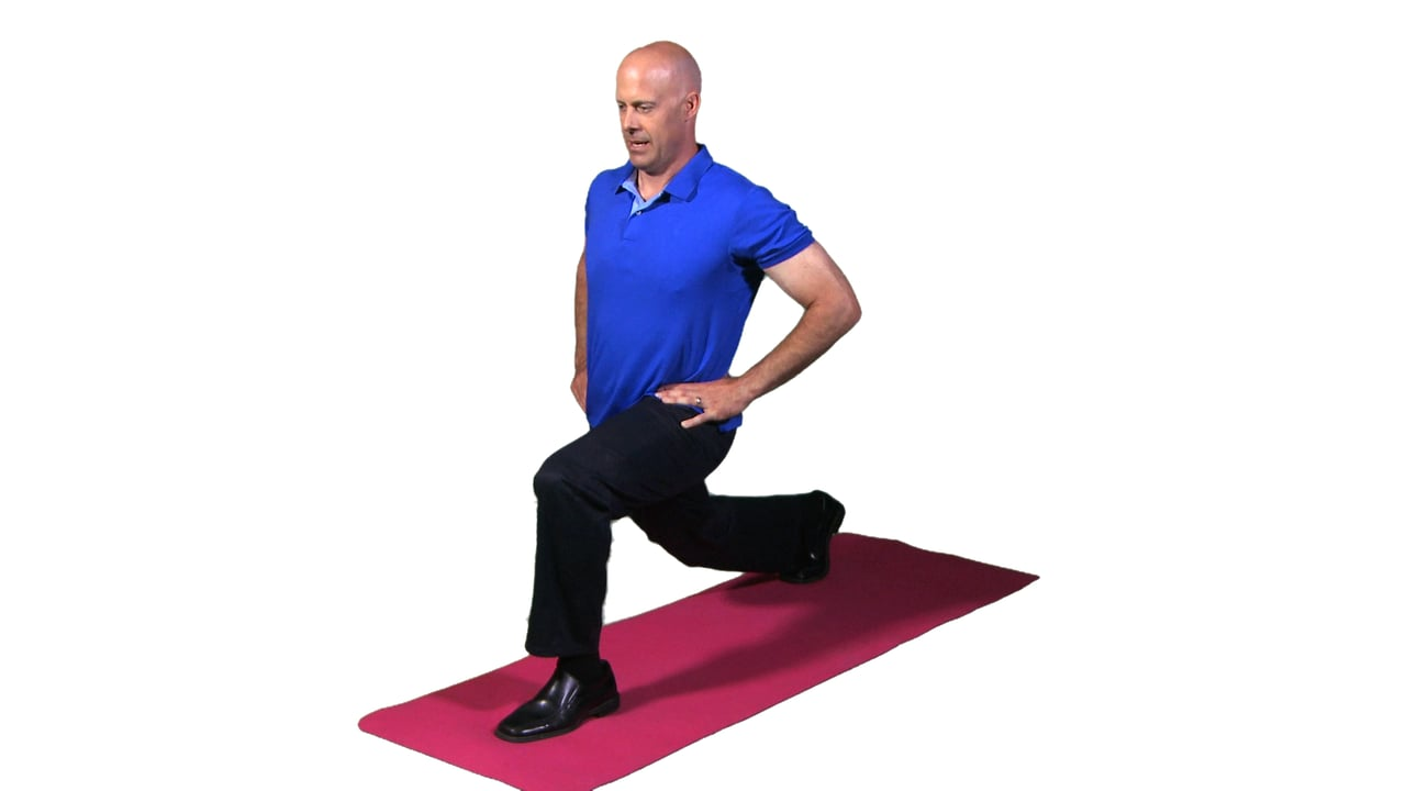 Leg lunges are a great exercise to do at work