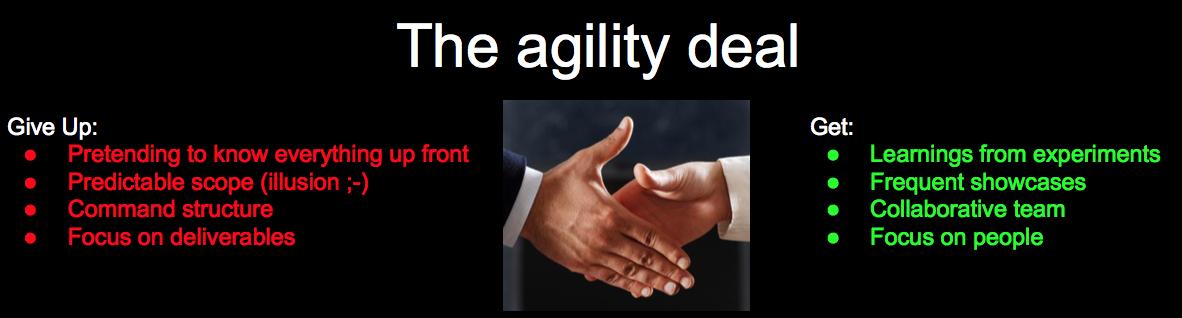 The agility deal