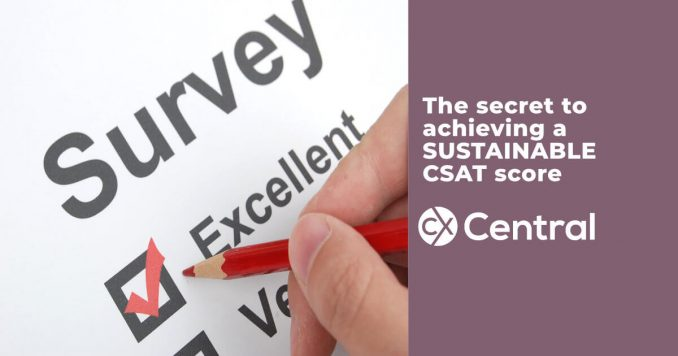 Tips on achieving a sustainable CSAT score