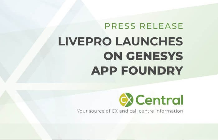 Livepro launches on Genesys
