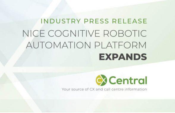 NICE cognitive robotic automation platform expands