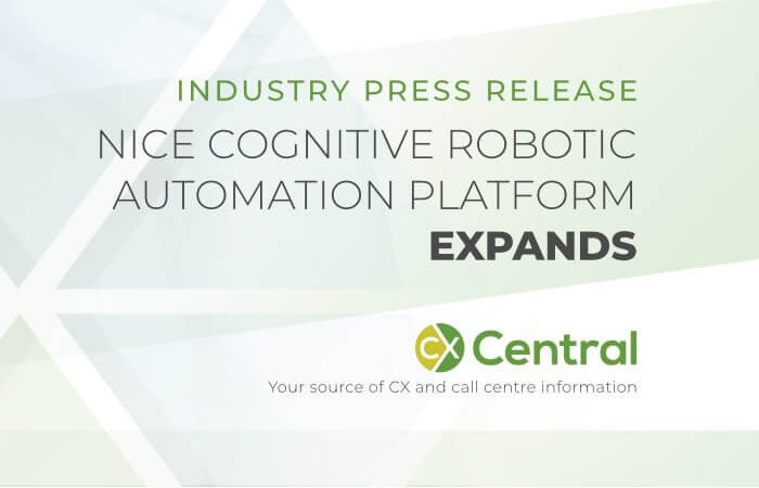 NICE cognitive robotic automation platform expands