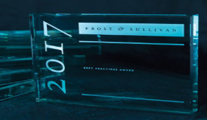Frost and Sullivan award trophy 2017