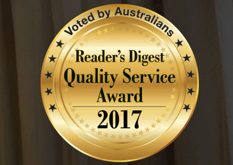 Readers Digest 2017 Quality Service Award winners
