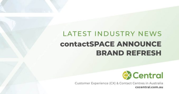 contactSPACE brand refresh and new logo
